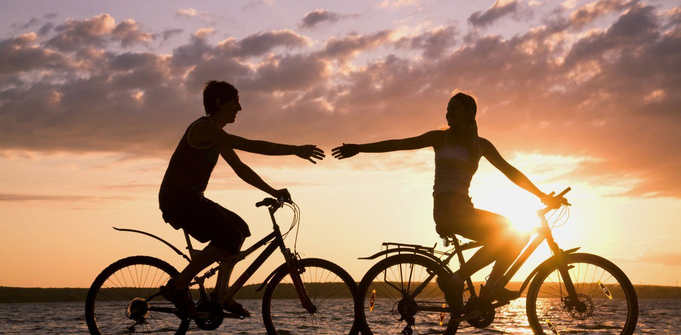 Romantisk cykelsemester