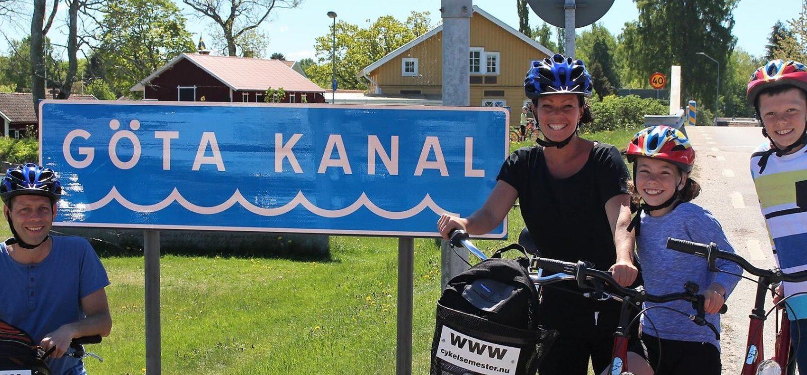 Cykelpaket familjeäventyr Göta kanal