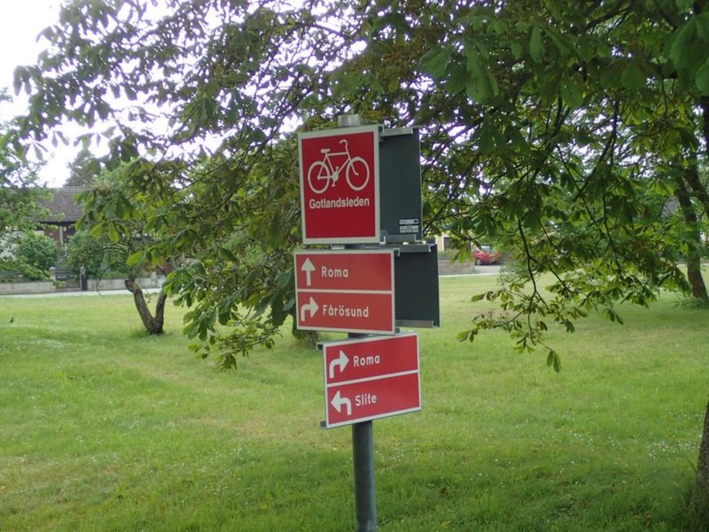 Gotlandsleden röda skyltar