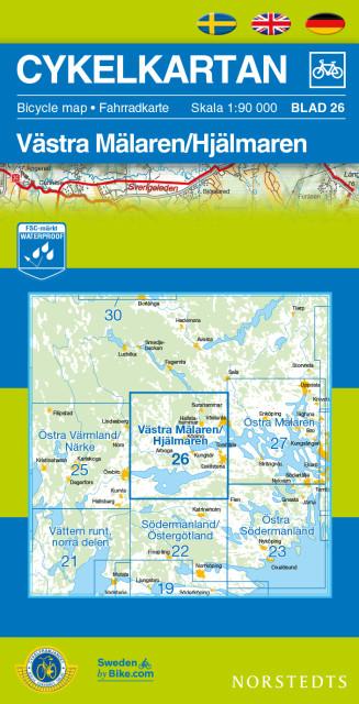 Cykelkartan blad 26 - Cykelkarta Västra Mälaren / Hjälmaren
