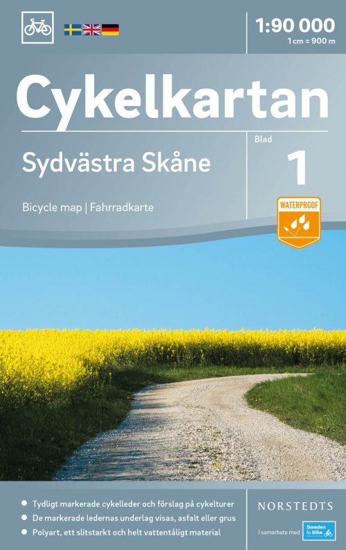 Cykelkarta Sydvästra Skåne omslag