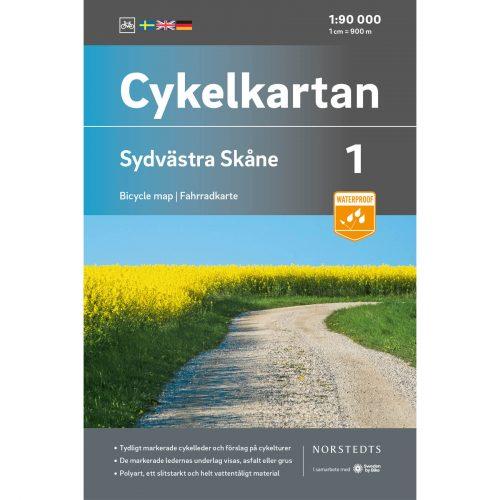 Bicycle map 1 Southwestern Skåne