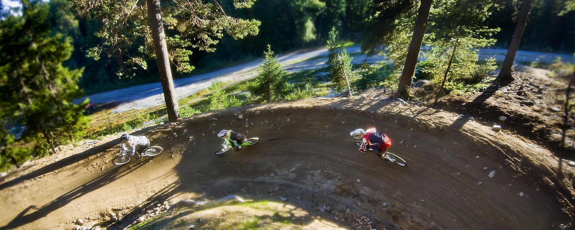 Cykla downhill i Järvsö