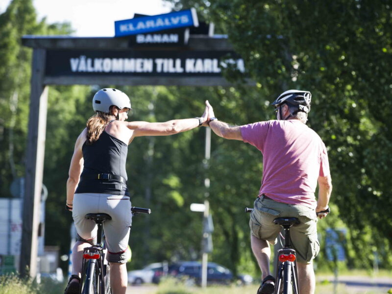 Klarälvsbanan bike ride without car traffic_2