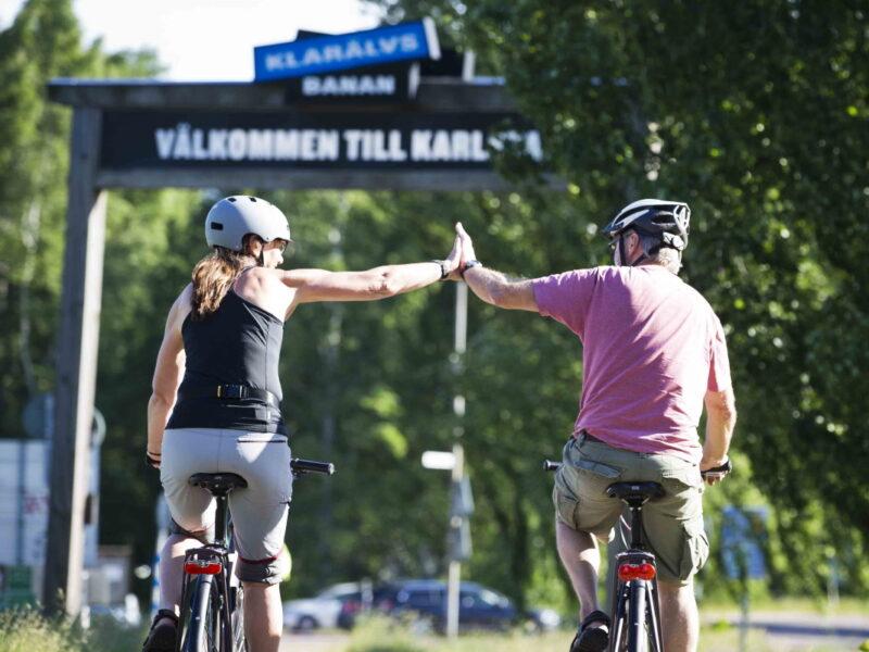 Klarälvsbanan cykeltur utan biltrafik_2
