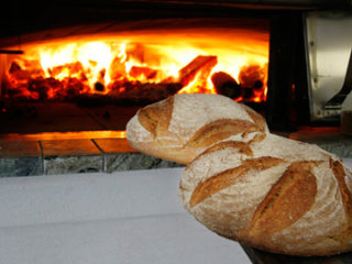 High wood oven bakery