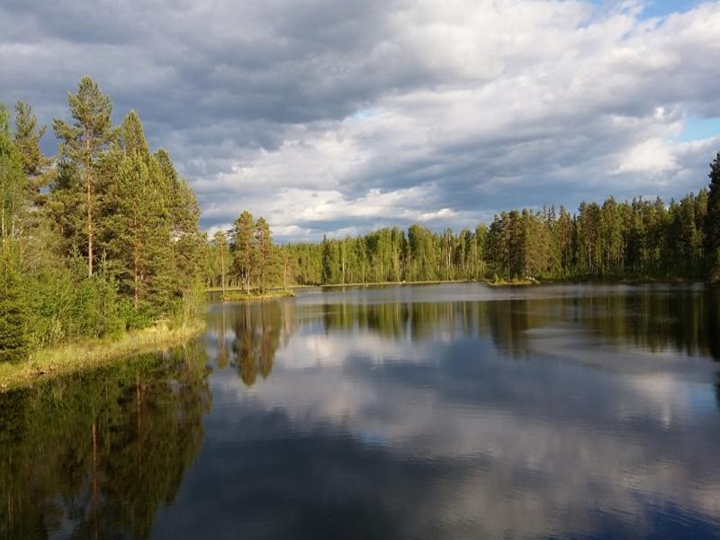 The lake around the corner