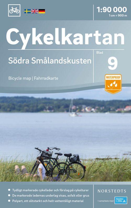 Cykelkarta 9 Södra Smålandskusten omslag