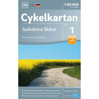 Bicycle map Southwest Skåne cover