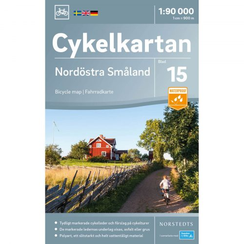 Bicycle map 15 Northeast Småland cover