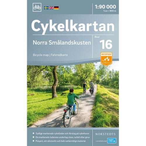 Bicycle map 16 Northern Småland coast cover