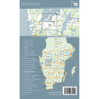 Cykelkarta 18 Norra Västergötland baksida