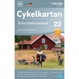 Bicycle map 23 Östra Södermanland cover