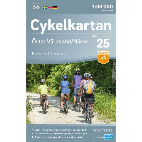 Bicycle map 25 Östra Värmland Närke cover
