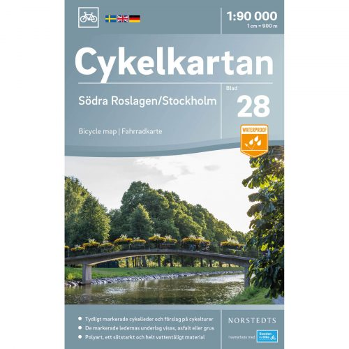 Bicycle map 28 Södra Roslagen Stockholm cover