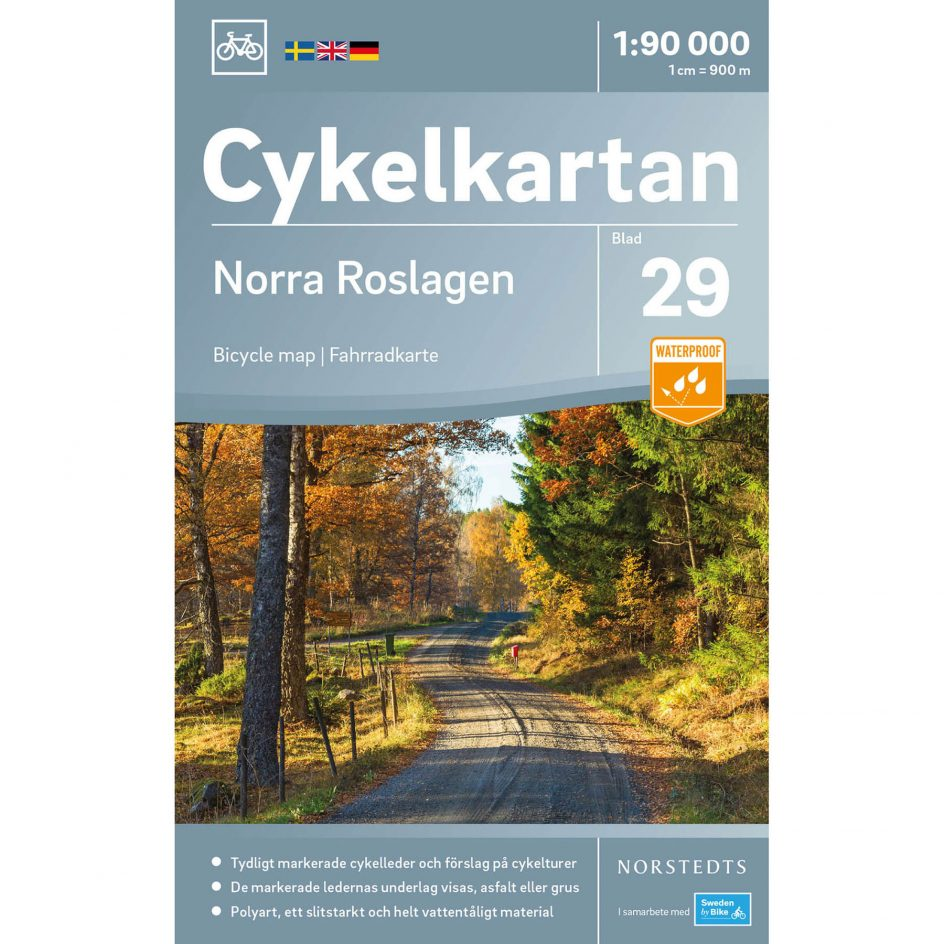 Bicycle map 29 Norra Roslagen cover