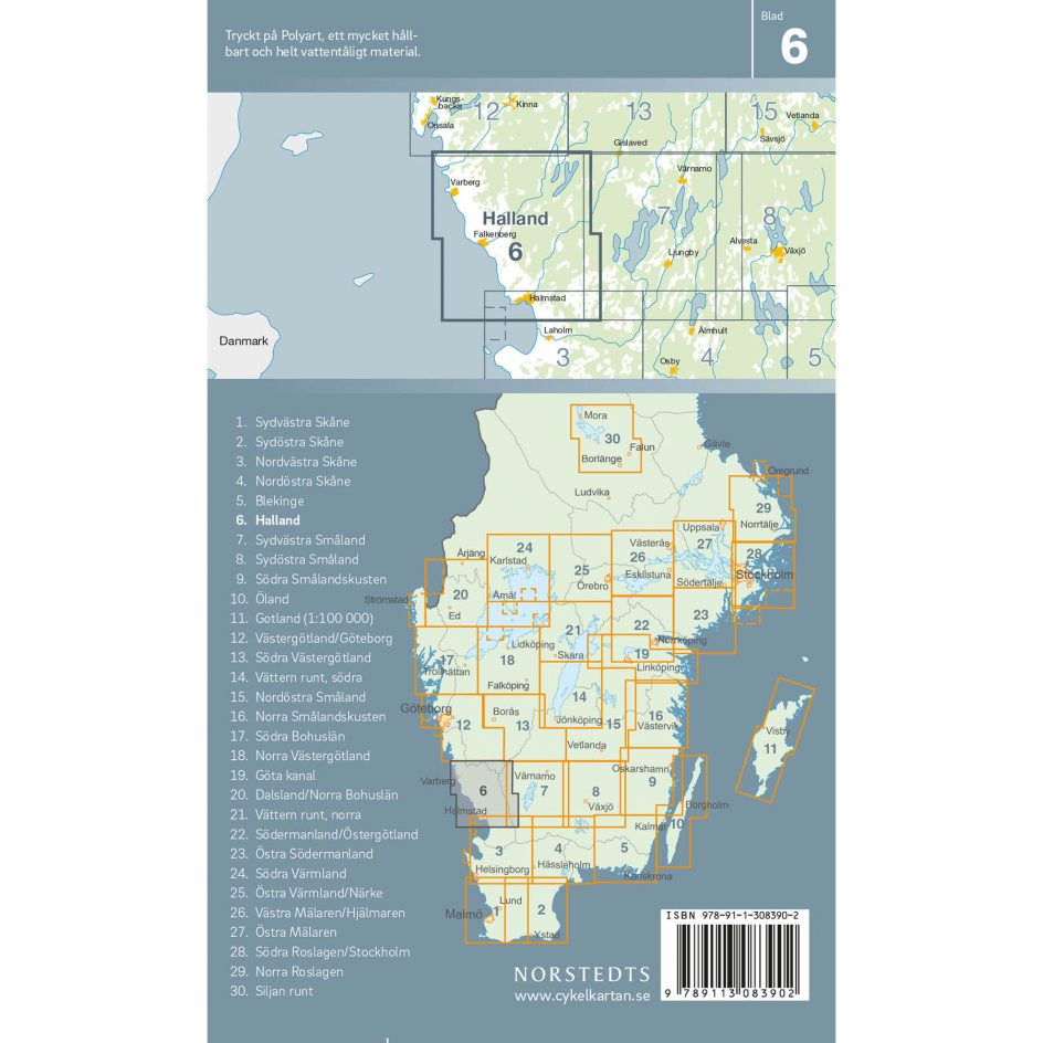 Cykelkarta 6 Halland baksida