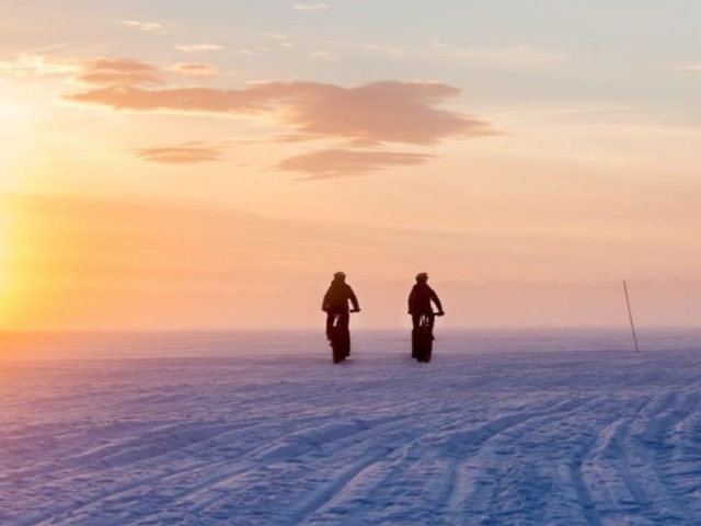 Bike fatbike sunset_Peter Rydström2 Lapland archipelago
