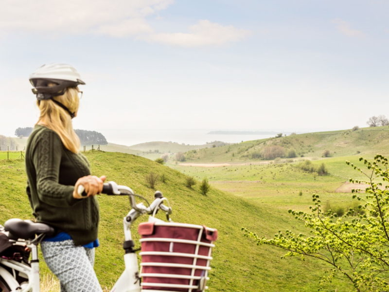 Det vackra landskapet vid Glumslövs backar för tankarna till Toscana. Foto: Apelöga