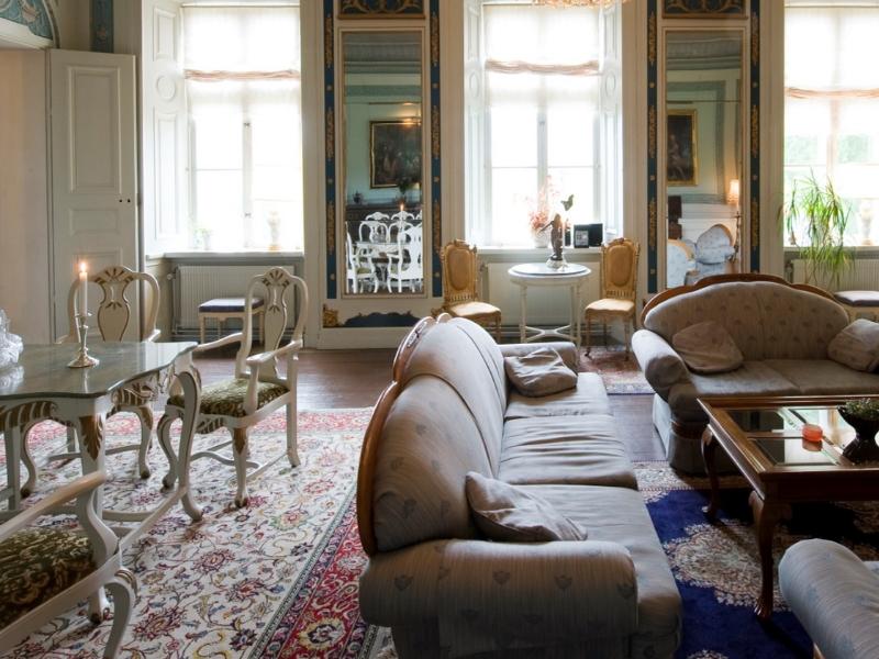Husby Säteri salong på slottet