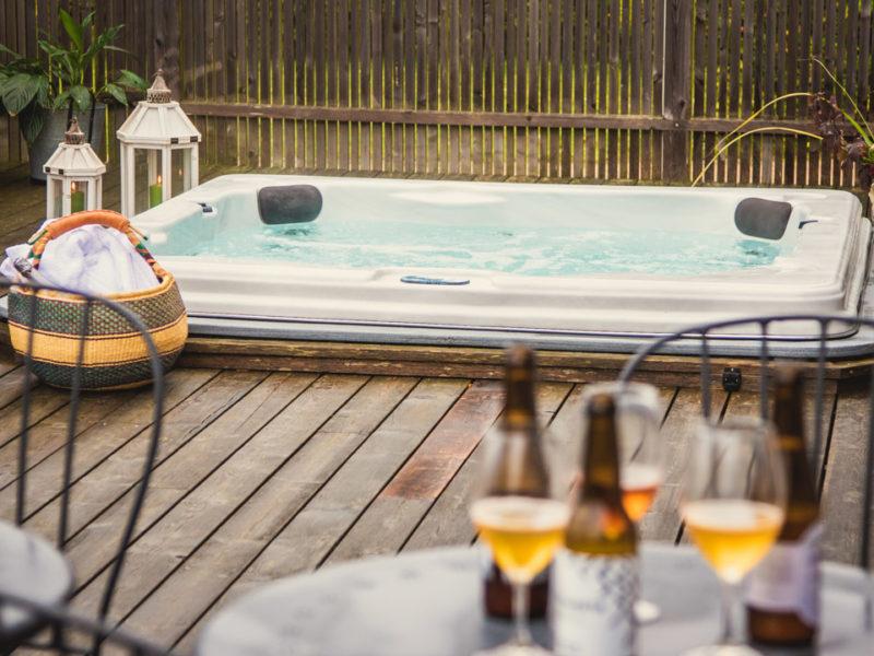 Cocoon farm hotel pool