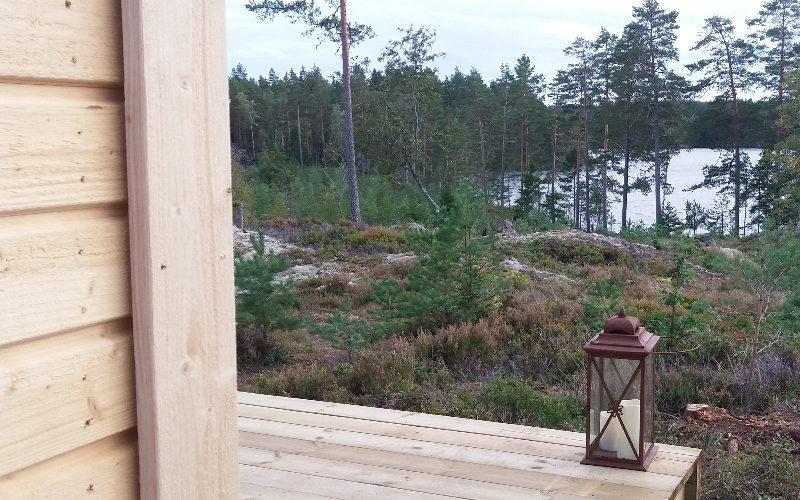 Utsikt mot sjön från Glashuset