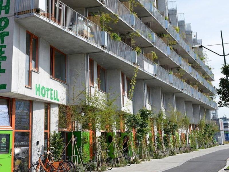 Ohboy bike hotel malmö fasad