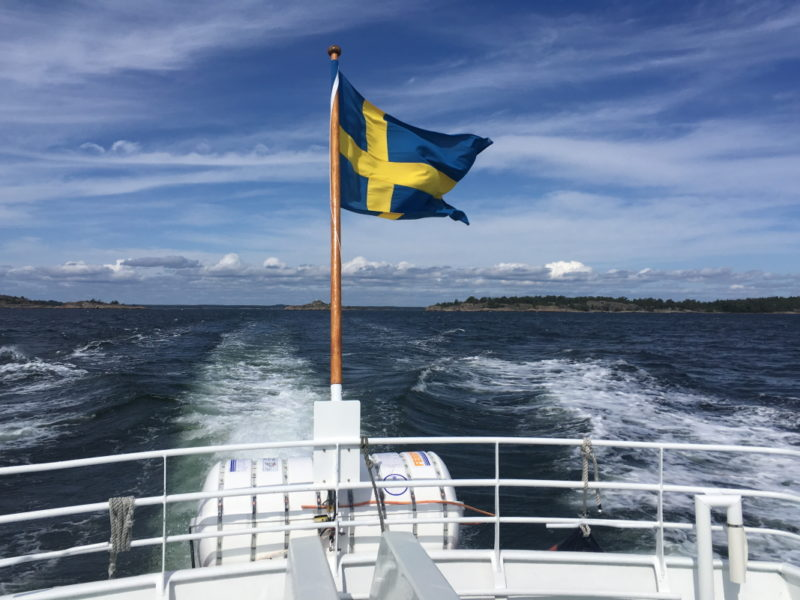 Boat trip in the Stockholm archipelago