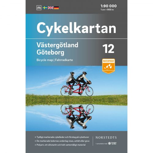 Bicycle map 12 Västergötland Gothenburg cover