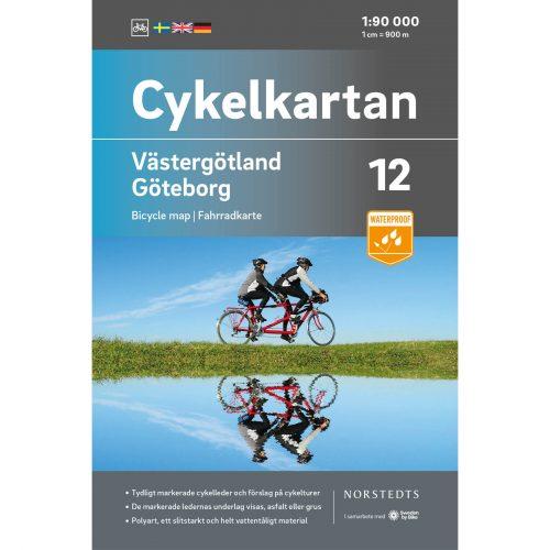 Cykelkarta 12 Västergötland Göteborg omslag