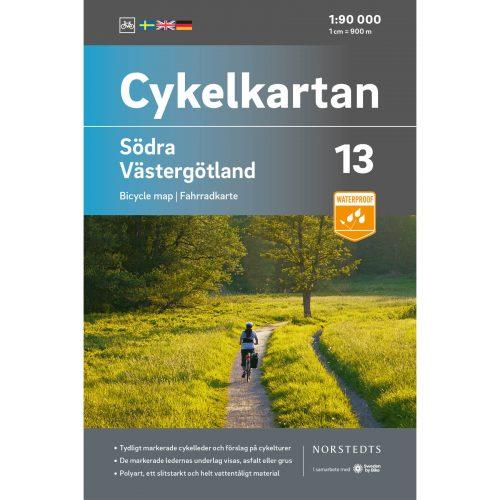 Cykelkarta 13 Södra Västergötland omslag