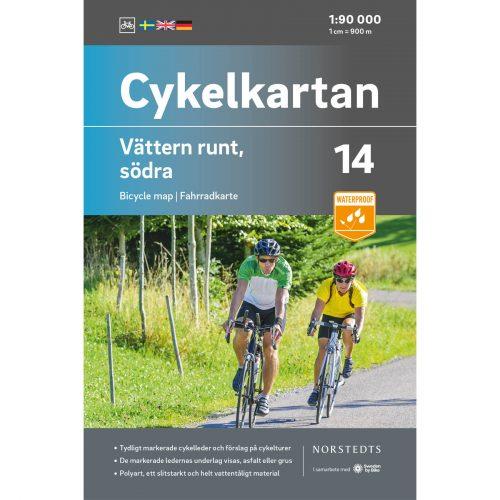 Cykelkarta 14 Vättern runt Södra omslag