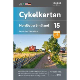 Cykelkarta 15 Nordöstra Småland omslag