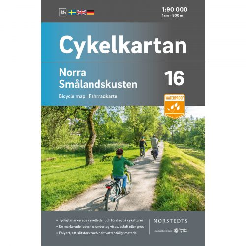 Cykelkarta 16 Norra Smålandskusten omslag