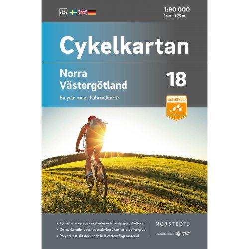 Bicycle map 18 North Västergötland cover