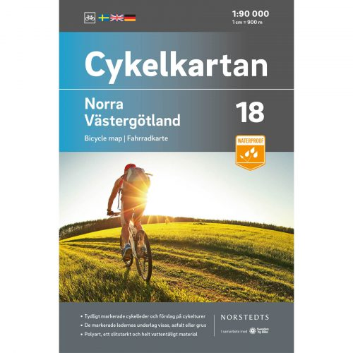 Bicycle map 18 North Västergötland cover