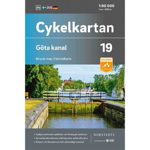 Bicycle map 19 Göta channel cover