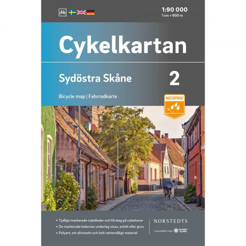 Bicycle map 2 Southeast Skåne cover