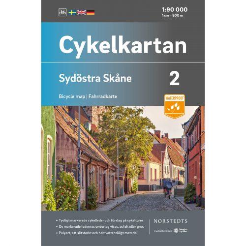 Cykelkarta 2 Sydöstra Skåne omslag