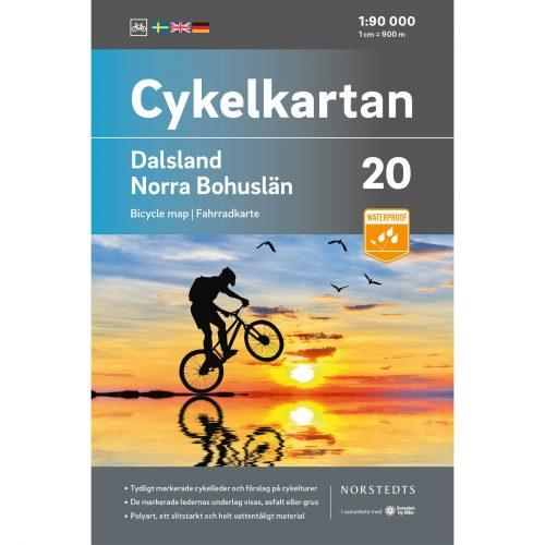 Cykelkarta 20 Dalsland Norra Bohuslän omslag