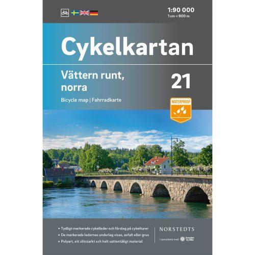 Cykelkarta 21 Vättern runt Norra omslag