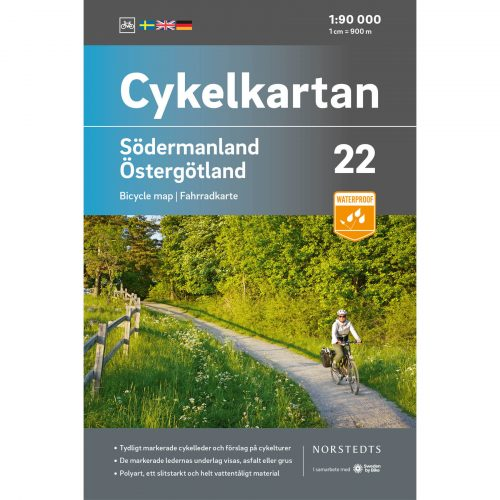 Bicycle map 22 Södermanland Östergotland cover