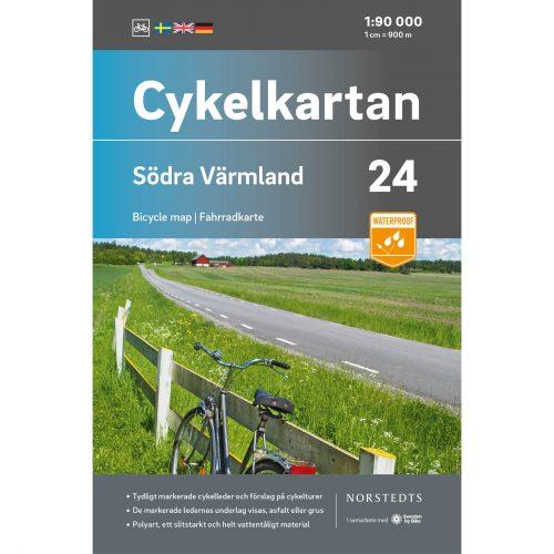 Cykelkarta 24 Södra Värmland omslag