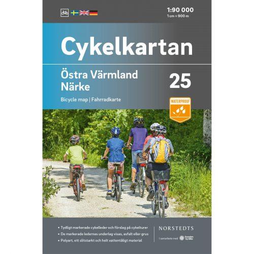 Cykelkarta 25 Östra Värmland Närke omslag