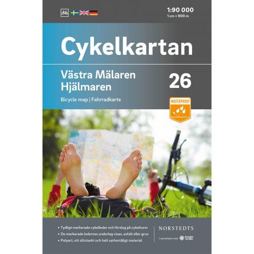Cykelkarta 26 Västra Mälaren Hjälmaren omslag