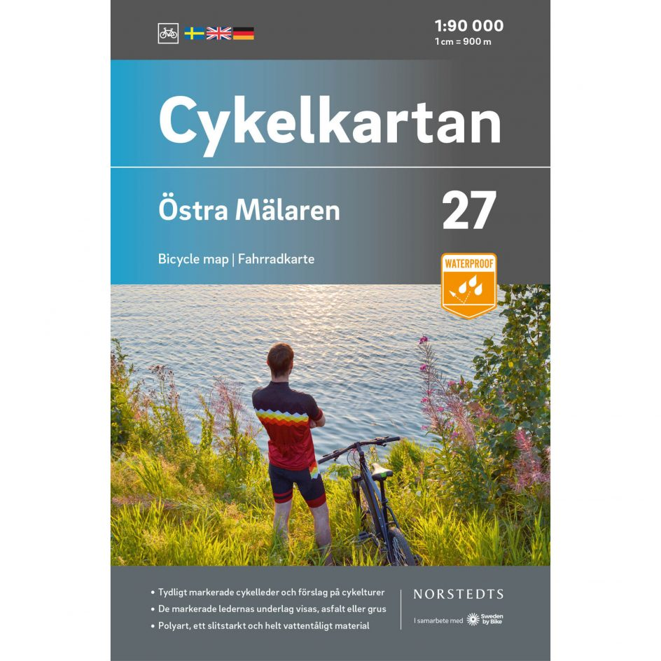 Bicycle map 27 Östra Mälaren cover