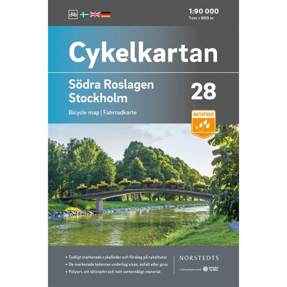 Cykelkarta 28 Södra Roslagen Stockholm omslag