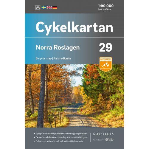 Bicycle map 29 Norra Roslagen cover