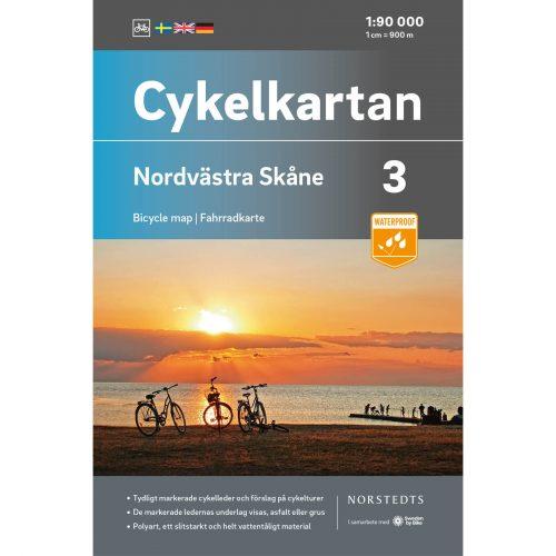 Cykelkarta 3 Nordvästra Skåne omslag