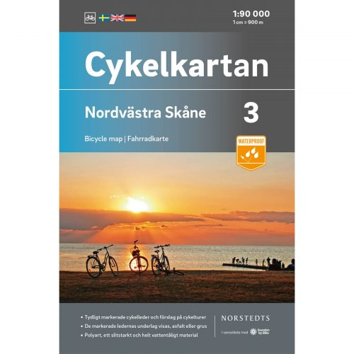 Bicycle map 3 Northwest Skåne cover